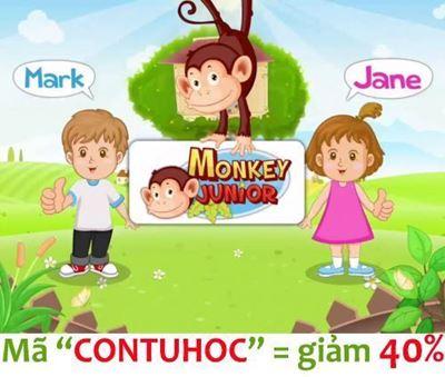 Picture of Mã giảm giá CONTUHOC để mua tk Monkey Junior giảm 40%