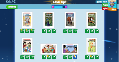 Raz-kids mở rộng (Level up)