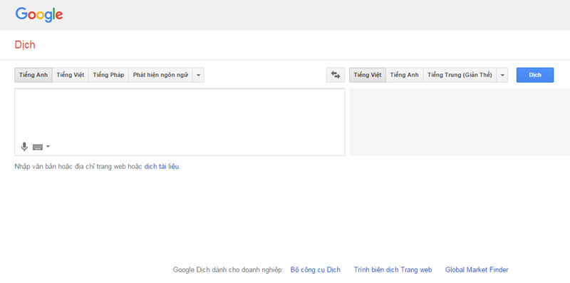 Google dịch tiếng anh