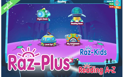Raz plus, raz-kids, reading az